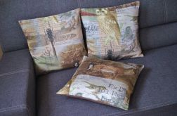 Poszewka - sowy, ważki i scenki z lasu