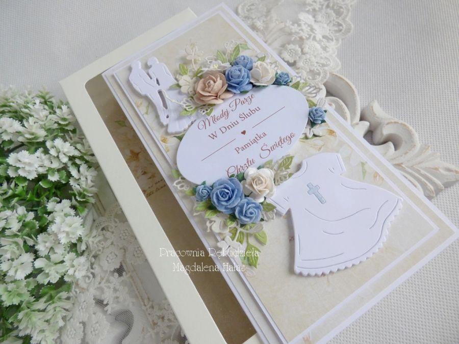 Kartka w pudełku na ślub i chrzciny 12