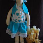 Turkusowa Helga - królik tilda -