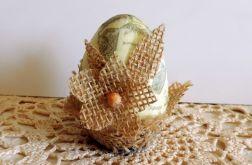 komplet Eko jaja cudnie zdobione 3 sztuki