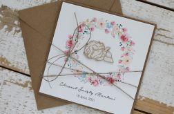 Kartka na chrzest z kopertą - życzenia i personalizacja d2