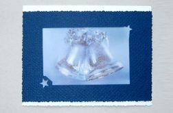 Kartka granatowe dzwoneczki