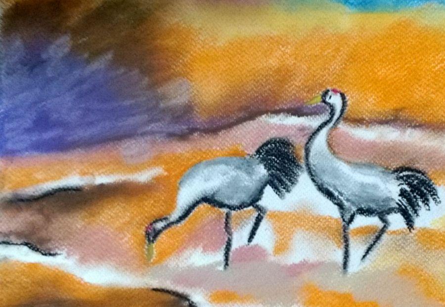 żurawie pastel