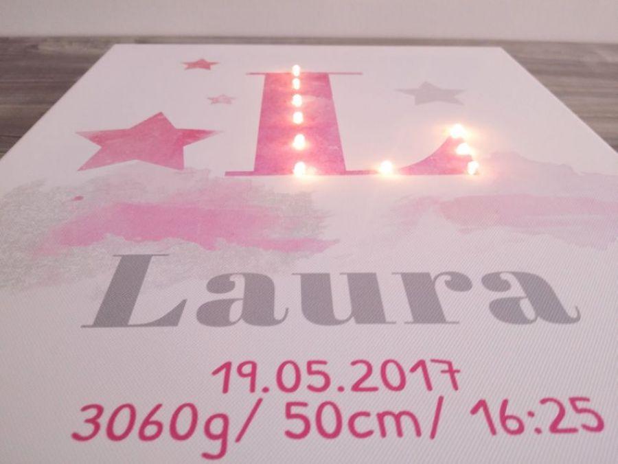 Metryczka z literą LED- wyjątkowy prezent
