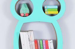 Półka na książki zabawki SOWA | mięta