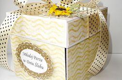 Pudełko dla Młodej Pary ze słonecznikami