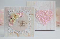 Ślubna kartka z pudełkiem 1