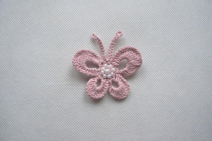 Motyle szydełkowe  Aga - model 3