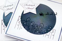 Zestaw 2 kartek świątecznych Cicha Noc 1905