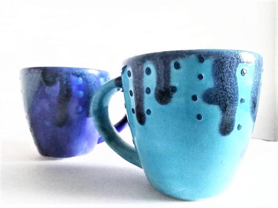 Filiżanki ceramiczne Sky&Ocean  - ręcznie malowane