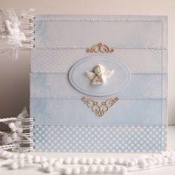 Niebieski album na Chrzest/25x25cm