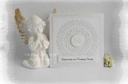 Zaproszenia IHS, biel i srebro