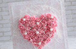 Ślubne kwiatowe serce - róż