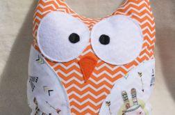 Przytulanka sowa - apacz pomarańcz