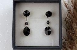Kolczyki z czarnymi kryształkami i kuleczkami