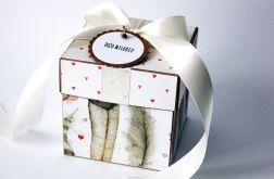 Piórka - pudełko ślubne