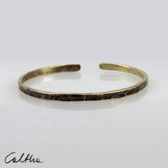 Mosiężna bransoletka + obrączka 200131-06 - Mosiężna bransoletka