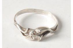 64 pierścionek vintage, stare, polskie srebro