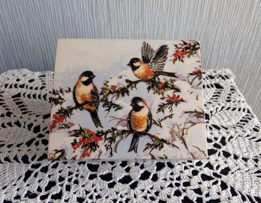 Kasetka z ptaszkami