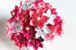 Papierowy bukiet - origami kusudama