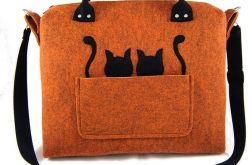 Orange-melange chest & black cats