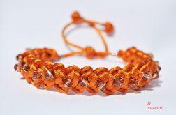 Bransoletka pomarańczowa makrama