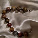 Bransoletka intuicji naturalny jaspis pisasso - Bransoletka z naturalnych kamieni jaspisu