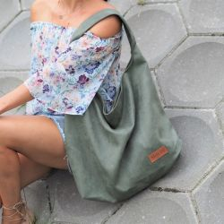 Duża torba worek Mili Chic MC7 - green