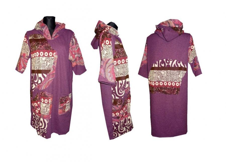 Tunika fioletowa - tunika, długa bluza, fioletowa