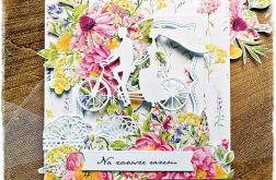 Rower - kartka ślubna