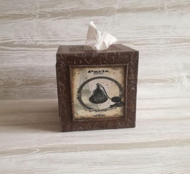 Chustecznik dla DAMY - Pudełko HANDMADE na chusteczki