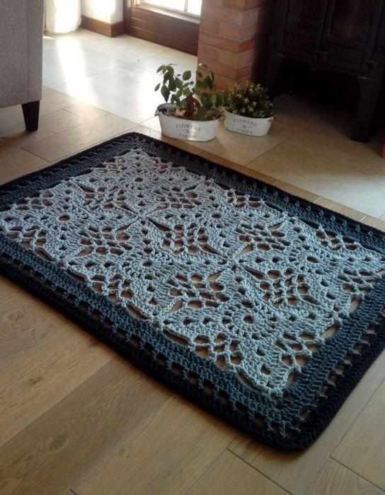 Dywan Ornament 150x105 cm, sznurek bawełniany