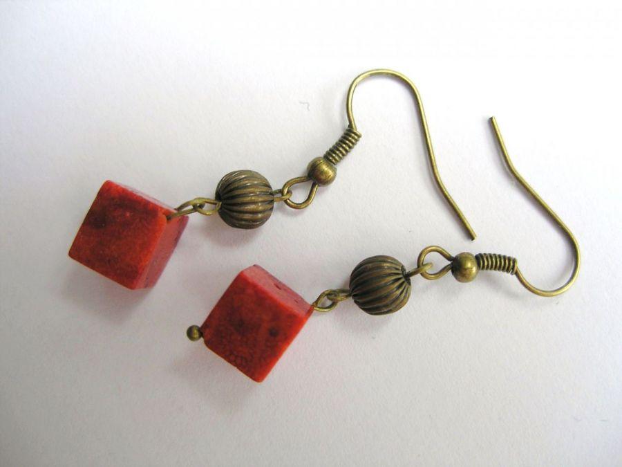 Kolczyki z koralem