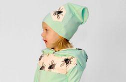 Miętowa czapa z muchą