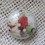 Bombka medalion z bałwankiem