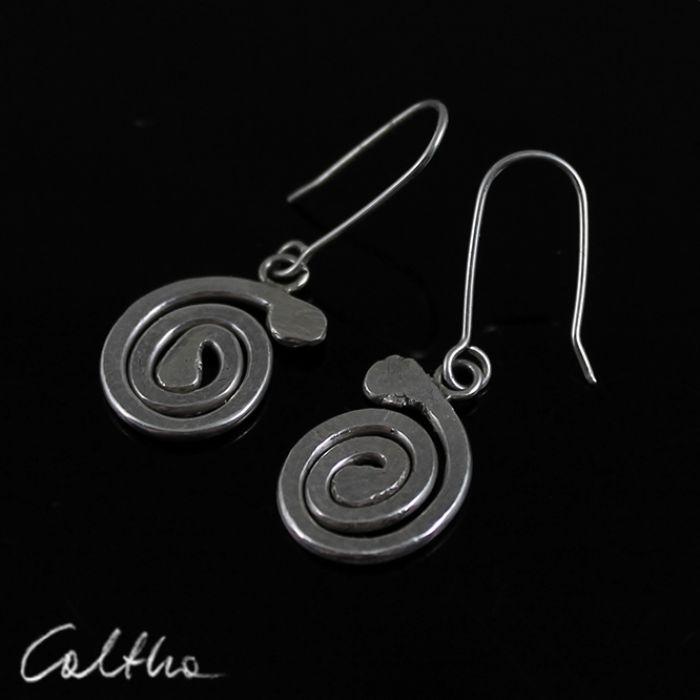Ślimaki - srebrne kolczyki 150804-04 - Srebrne kolczyki