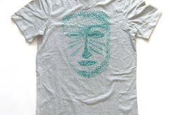 rozmiar M Szara koszulka ethnic mask