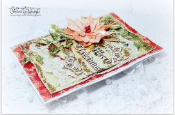 Kartka świąteczna z poinsettia