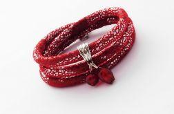 Shiny Glamour czerwono-srebrna