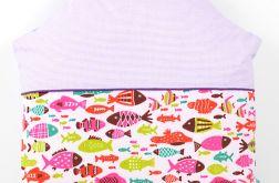 Poduszka dla dziecka 40x40 Domek rybki
