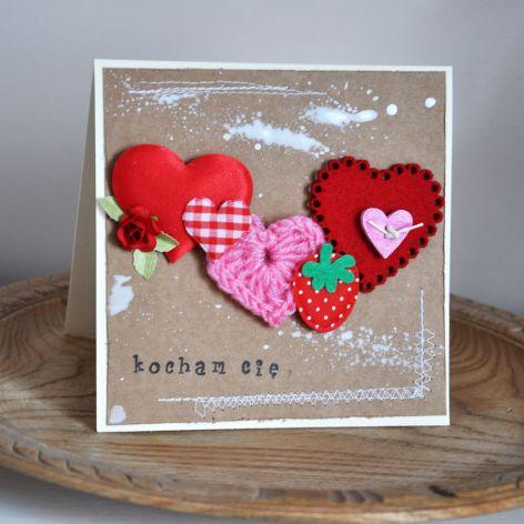 Walentynka - sznur serc