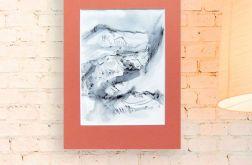 Szkic górski nr 19 - czarno biały rysunek