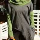 Sweter nietoperz-asymetryczny