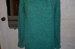 ciepły sweter w warkocze m/l ciekawy kolor