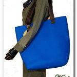 Bardzo duża niebieska, XXL minimalistyczna torebka