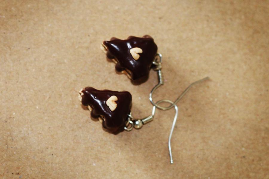 Kolczyki - czekoladowe torty