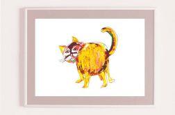 Rudy kot-plakat dla dzieci
