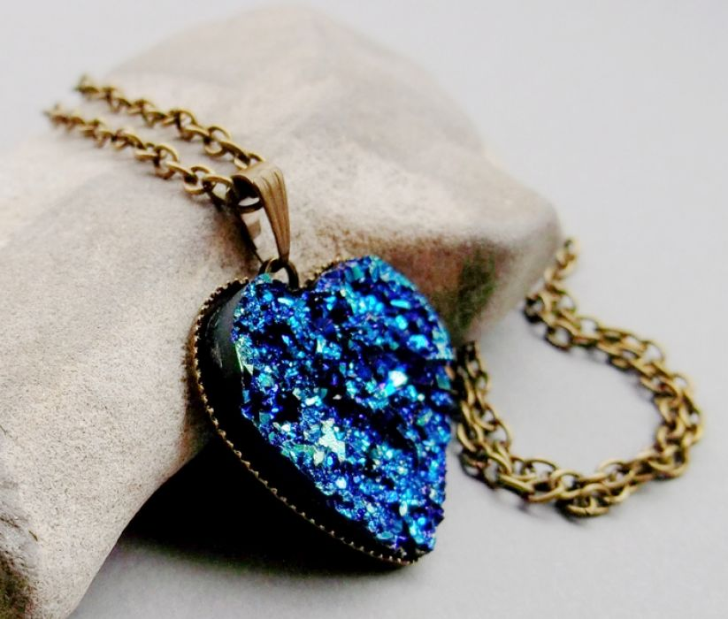 ♥ Druzy Heart ♥