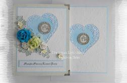 Album w pudełku IHS niebieski komunia