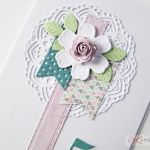 Kartka URODZINOWA różowo-turkusowa